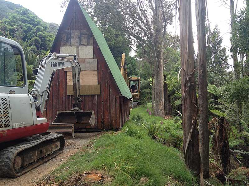 Moving Crumpy's Hut